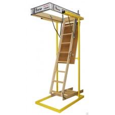 Лестница деревянная складная DSS (Standart) Деке (Docke) 70x120x2.8